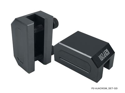 P2m Frame Rail Jack Adapters Gun Metal 2pcs Set